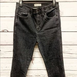 "Madewell 10"" High Riser Skinny Skinny Jeans 28"